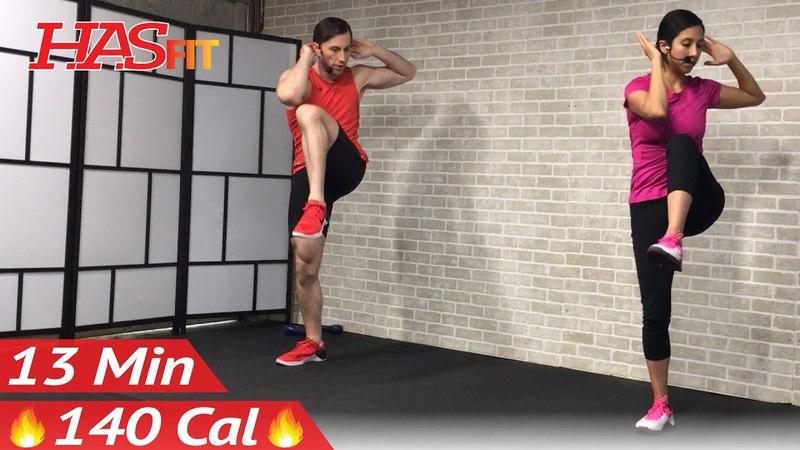 HASfit - Standing Abs Workout | Тренировка живота в положении стоя