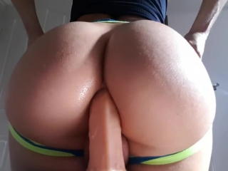 Big dildo in my bubble butt ass (shemale ♥ tranny ♥ ladyboy ♥ ts)