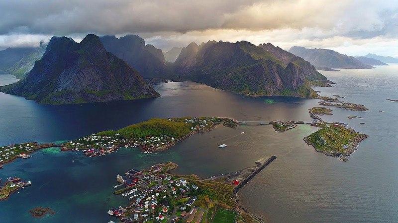 Beautiful Lofoten (Norway Arctic Circle) AERIAL DRONE 4K VIDEO