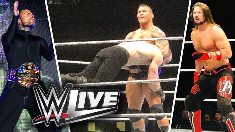 WWE Live Johnson City.TN 2018 Highlights Aj Styles Vs Shinsuke Nakamura, Randy Jeff Hardy More