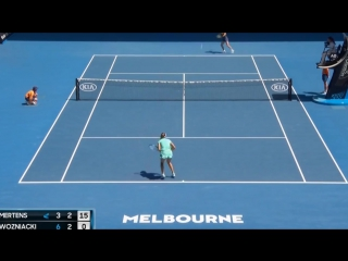 Теннис. Женщины. Australian Open 2018. Хард Мертенс Элизе - Возняцки Каролин 0:2 (3:6, 6:7)