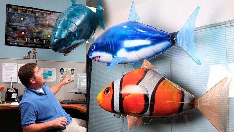 Летающие рыбы акула Шарк и рыбка Немо на радиоуправлении