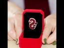 Uloveido Обручальные кольца для Для женщин красный овал женский кольцо с камнем Свадебные украшения Для женщин Подарки на Новый