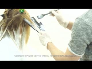 Техника нанесения блондора