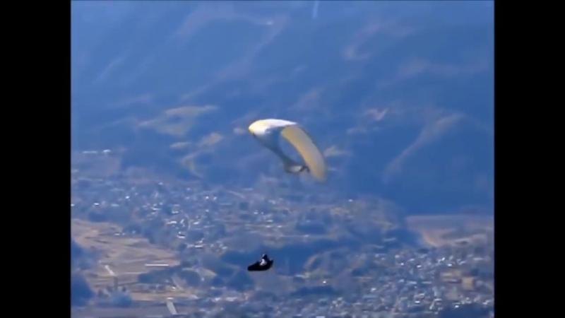 Paragliding CRASH безбашенные япошки.