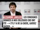 Alexandre Langlois syndicat de police: des consignes ont été données pour laisser-faire selon des méthodes bien connues !