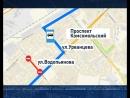 Улицу Водопьянова перекрыли, движение автобусов