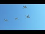 Над Москвой прошла первая воздушная репетиция Парада Победы