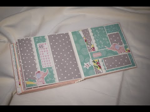 Super simple scrapbook for beginners tutorial Простой скрап альбом