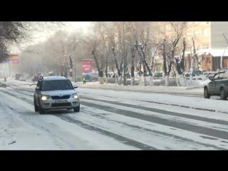 Нарушение ПДД сотрудниками полиции Усть-Каменогрск F 986 KP