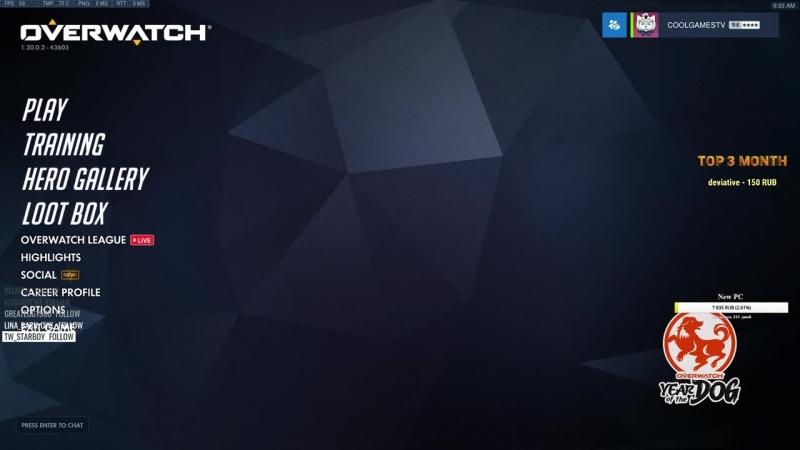 🔴 Overwatch | В мире животных :D | 4318 peak