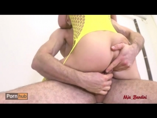Mia Bandini Rough Anal on a Chairbarstool - Ass to Mouth, DP with Dildo, Rimming Mia - Pornhubcom