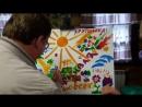 Художественное шоу с сопровождением Волшебный портрет Шоу проект Самум г Нижневартовск Мегион Сургут Радужный Художник на праздн