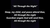 All Through the Night Lullaby Ar Hyd y Nos words lyrics Christmas Welsh Wales sing along song songs