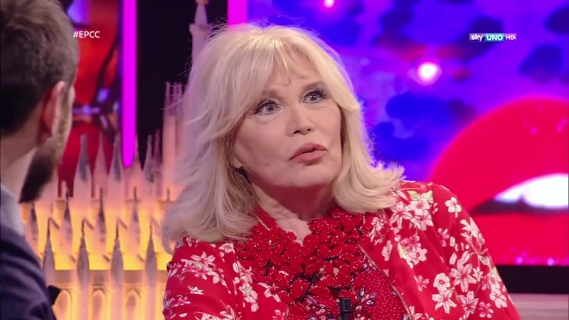 Amanda Lear on Italian TV (Cattelan/Sky TV, 27 March 2018)