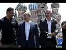 Владимир #Путин посетил Парк футбола на Красной площади