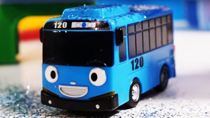 Tayo el autobús y coches de juguete. Vídeos para niños.