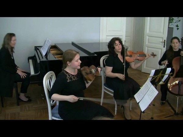 Концерт №5 фа- минор. 1 часть (Бах), квартет музыкальной школы Виртуозы