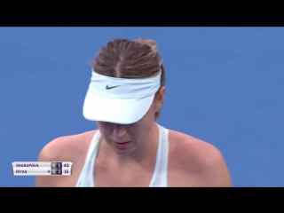 A huge pair of forehands brings up match point for Maria Sharapova! #ShenzhenOpen