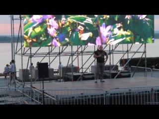 День ВДВ,мое авступление песня Синева на набережной у Ладьи.