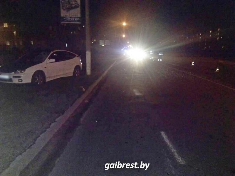 Пьяный пешеход пострадал в результате наезда в Пинске