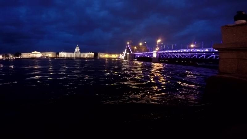 Сведение Дворцового моста (Алые паруса 2017)