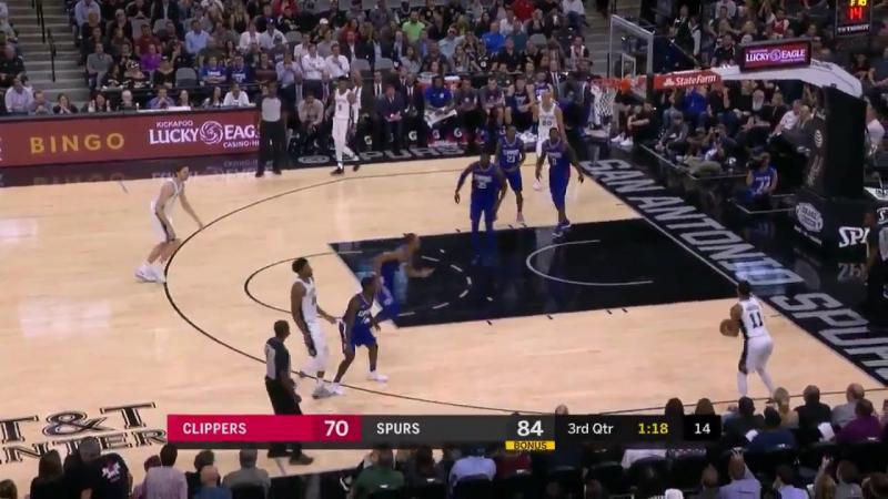 Три очка Форбса после серии пасов в матче с Clippers