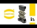 Силовой прямоугольный разъем Harting угловой 16 pin 16 A Han 16B 19 30 016 1522 Сальник PG32