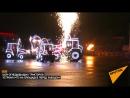Шоу огнедышащих тракторов устроил МТЗ на площадке перед заводом.