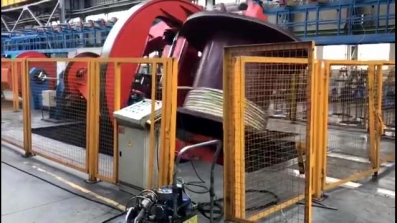 Линия скрутки на заводе Электрокабель