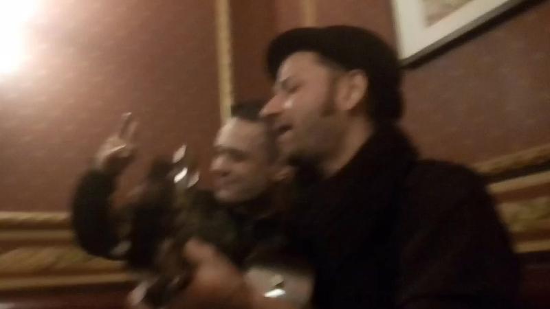 Песня Звездочета - А.Чвала в гримерке Ben Hall (Екатеринбург) 12.11.17