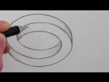 Как нарисовать простую оптическую иллюзию карандашом