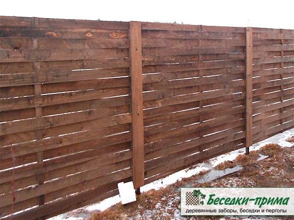 Деревянный забор «Модерн-лайт»