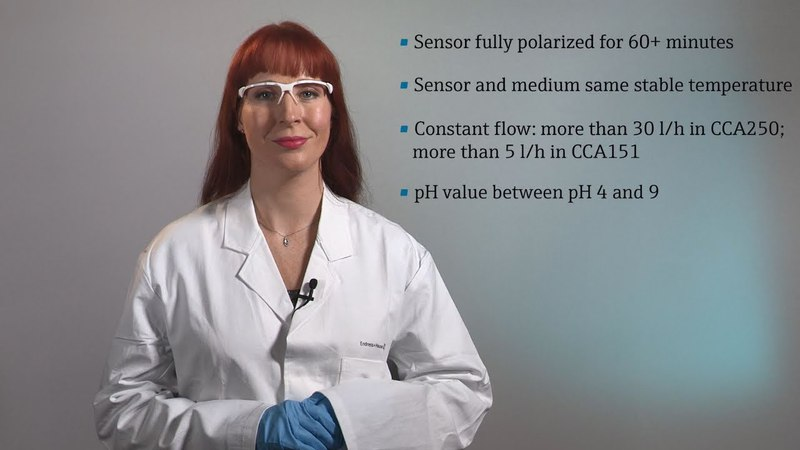 Calibration of CCS50D chlorine dioxide sensors with the Liquiline CM44x transmitter