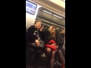 Девушка богиня из метро спорит с другой пассажиркой