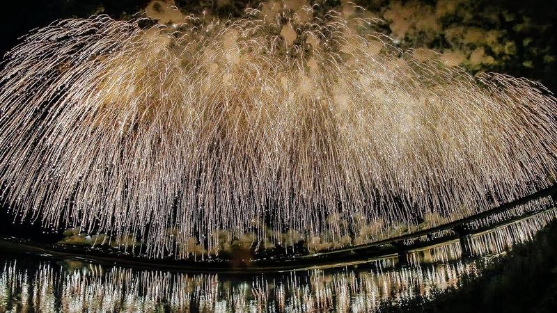4K UHD 長岡花火大会 2018 米百俵花火・尺玉百連発 Nagaoka Fireworks Festival 2018 Finale 2018 08 03