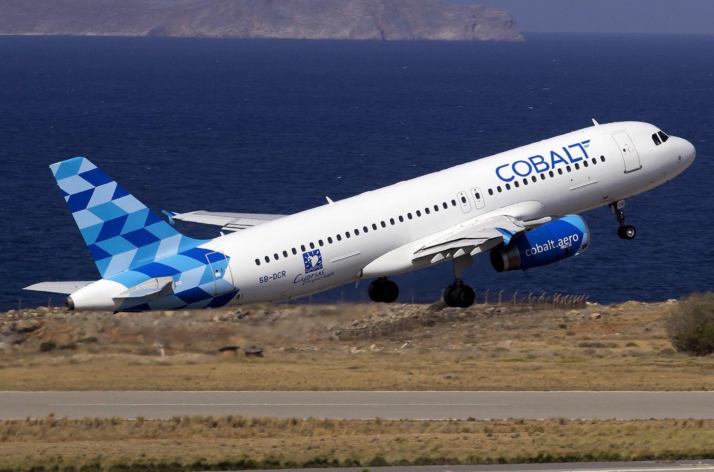 Взлет Аэробуса Cobalt Air