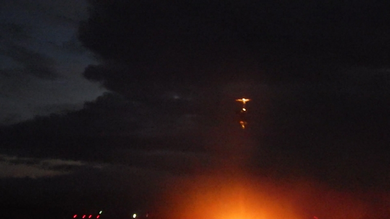 Вечерняя посадка CRJ-200 акРуслайн в Кирове( аэропорт Победилово) руслайн споттинг spotting