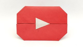 Origami YouTube Play Button easy making tutorial - Colors Paper