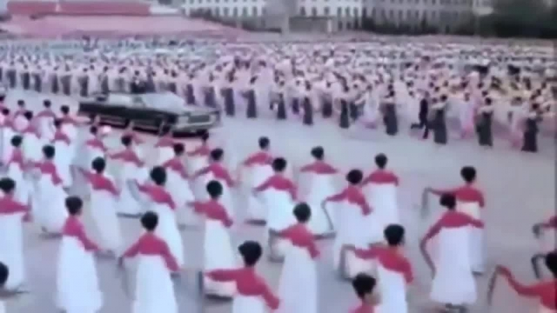 Nicolae Ceausescu in vizita la Kim Il Sung Coreea de Nord 1978