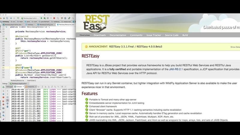Java Введение в RESTEasy для разработки веб сервисов Примеры кода Spring Boot Часть 1