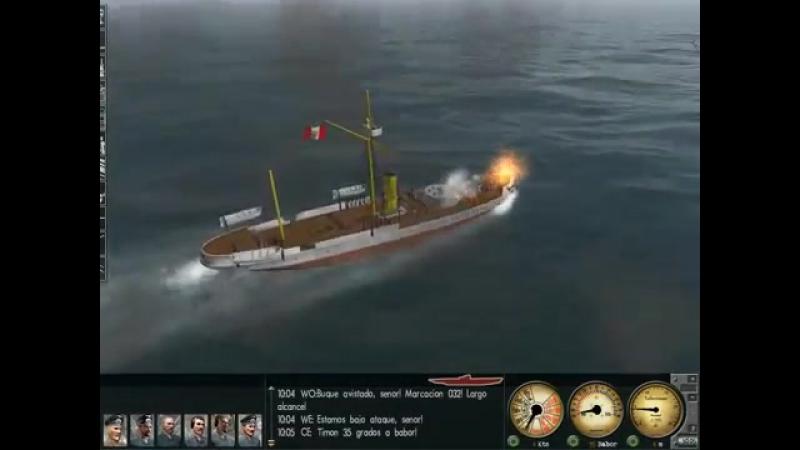 Esmeralda vs Huascar - Mod 1879 - Silent Hunter 3