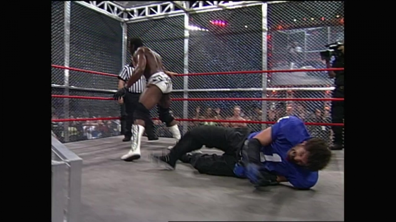WCW.Monday.Nitro.2000.09.25 - Steel cage match - Vince Russo vs Booker T