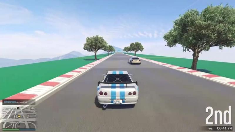 [Digital Car Addict] GTA 5 Top Speed Drag Race (Alpha vs. Elegy Retro Custom)