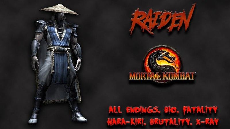 Mortal Kombat - All Fatality, Bio, Ending - Raiden