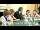 Tom Holland, Ollie Gardner, Fox Jackson-Keen, Dean-Charles Chapman, meet PM Gordon Brown 2010