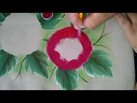 Pintando flor Crisantemo o Gerbera.