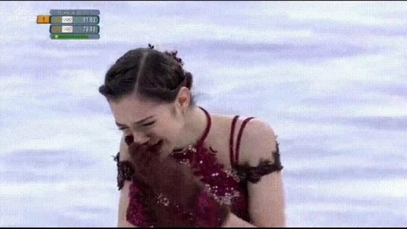 Медведева заплакала сразу после проката произвольной программы