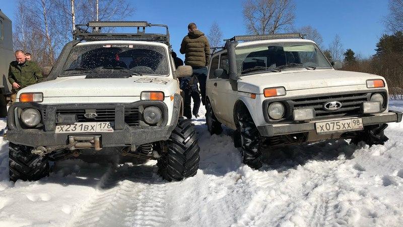 Нивы на тракторах, Jeep на порталах - вторая часть.