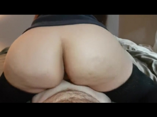 REVERSE COWGIRL WITH THIGH HIGH SOCKS HAS EXPLOSIVE ORGASM AND CUM IN PUSSY - big ass butts booty tits boobs bbw pawg stockings